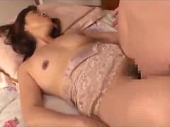 Milf With Hairy Pussy Sucking Guy Cock Fingered And Fucked On The Bed