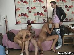 Foursome with her BFs parents and his friend
