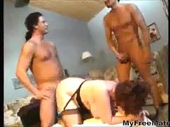 Plump Granny And Six Guys Gangbang