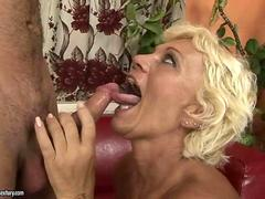 Hairy granny has hard sex with a kinky dude hard
