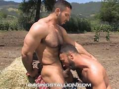 Handsome Hairy Muscled Cowboys Outdoor Anal