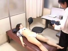 Kinky doctor fingers a delicious Japanese MILF