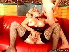 Old bitch Effie sucks cocks and fucks in a compilation