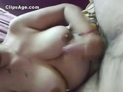 Milky big boobed Indian desi Punjabi bhabhi nicely giving handjob for her devar