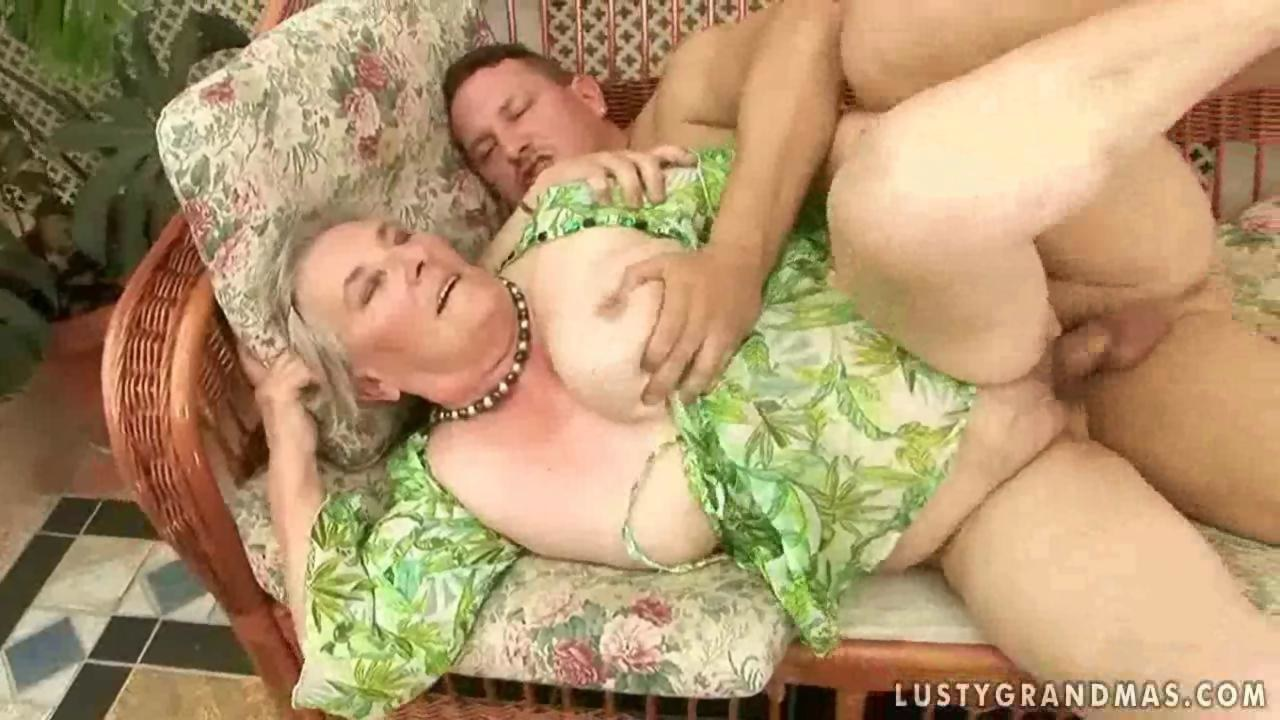 Granny with sex old men having