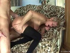 Handsome dude fucks a mature gal and makes her wet finally