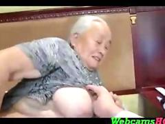 Horniest Amateur Asian Granny still loves fucking on Webcam