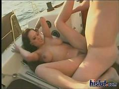 Asia gets fucked on a boat trip