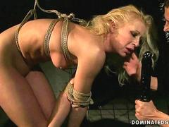 Blonde gets humiliated and showered with piss