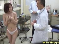 Japanese amateurs stripping on spycam in the hospital