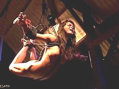 Suspension and punishment in a hardcore bdsm game