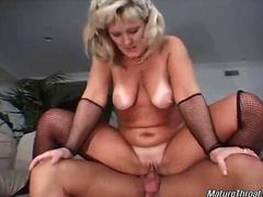Blonde maid pleases her boss