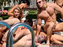 Bisex outdoor anal orgy