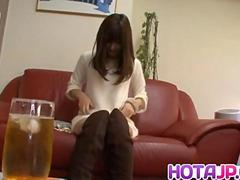Chika sucks dildo and gets doggy style