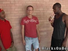 Troy Segal Gets Banged By Two Black Studs
