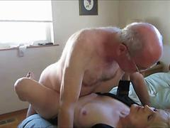 Mature couple having a sexual intercourse