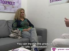 Curly Czech chick fucked for an audition