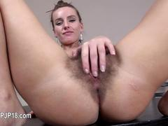 slut has a session where she pisses and cums together