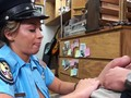 Beautiful Latina cop fucking a big pawn shop cock for cash
