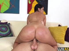 Spanked big ass babe gets her pussy mangled with a schlong
