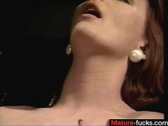 Retro lesbian ladies stuff their mouth with hairy pussy