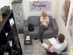 Busty Blonde Seduces Doctor