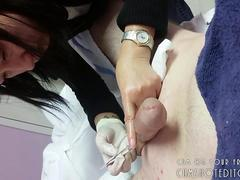 Young Japanese Teen Post Wax Clean Up POV