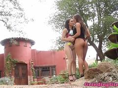 Gorgeous lesbians sixtynining together
