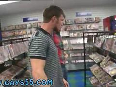 Twink sucks a studs dick in a grocery store POV