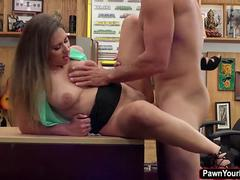 Ivy Rose is desperate that she fucks a huge cock for money