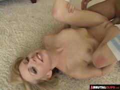 BrutalClips  Blondie gets pounded without mercy