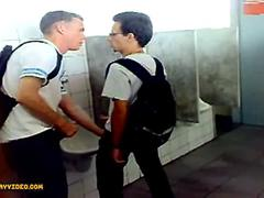 twinks action in toilet amateur