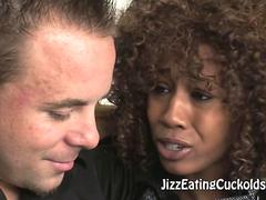 Ebony Maya Commands Her Cuckold Husband