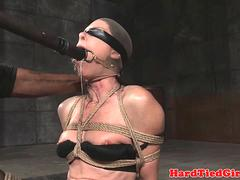 Flogged bonded submissive screams of pain
