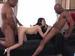 Rough trio with two black males for Kyoko Nakajima