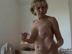 Cheating british milf lady sonia pops out her enormous boobs