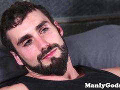 Bearded jock dreams about romantic anal