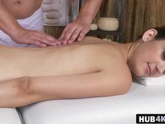 Czech massage therapist couple slippery table sex