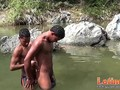 Hunky ethnic gay boys having sloppy wet oral fun