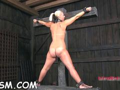 Nasty slave bitch gets tortured by her master