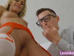 Sexy blonde nurse Lola Myluv gets drilled by the doctor
