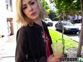Blonde teen babe public pickup agrees cash for sex