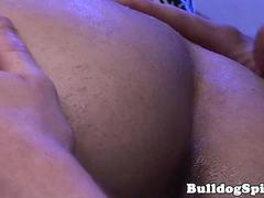 English stud facialized after assfucking