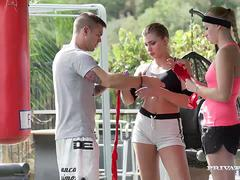 Private.com - Haley Hill and Scarlett Scott Have an Anal Trio With Their Trainer