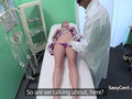 Doctor demonstrating sex to patient