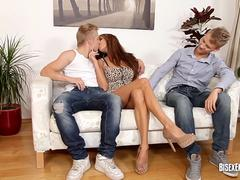 First Bisex Threesome for Anita