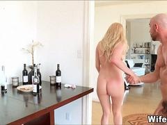 Blonde Wife Cheats on Her Husband