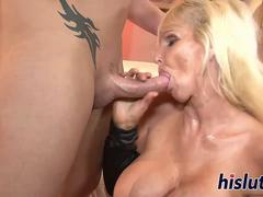 Stacked GILF rides on a stiff boner