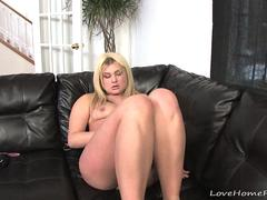 Chubby babe will happily masturbate for us