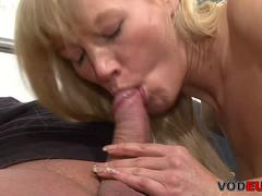 Freaky German blonde MILF fucks her horny lover